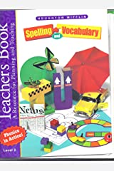 Spelling and Vocabulary, Level 3, Teacher's Book (Book & CD) Spiral-bound