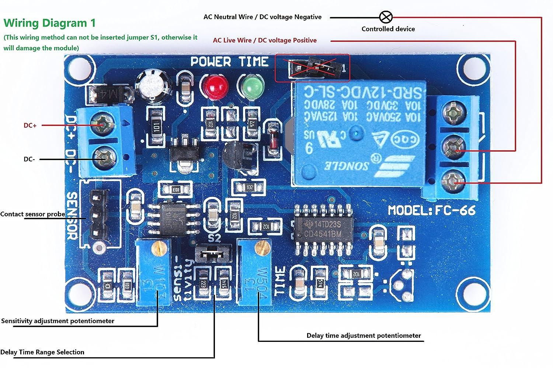Amazon.com: KNACRO SRD-12VDC-SL-C DC5V TCRT5000 infrared ...
