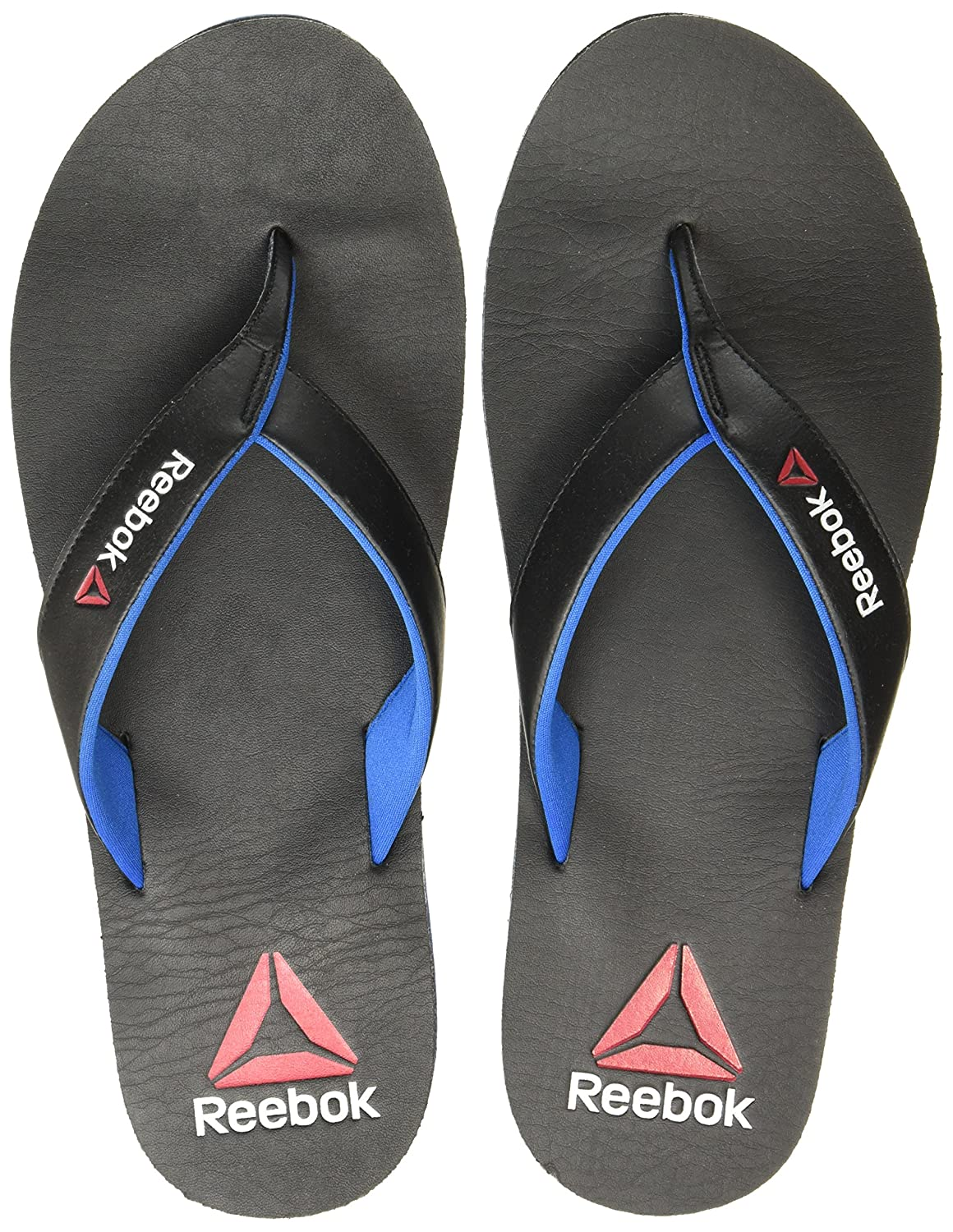 7273f38bbfd31d Reebok Men s Black Blue Sport Hawaii Thong Sandals - 11 UK India (45.5  EU)(12 US) (BD3878)  Buy Online at Low Prices in India - Amazon.in