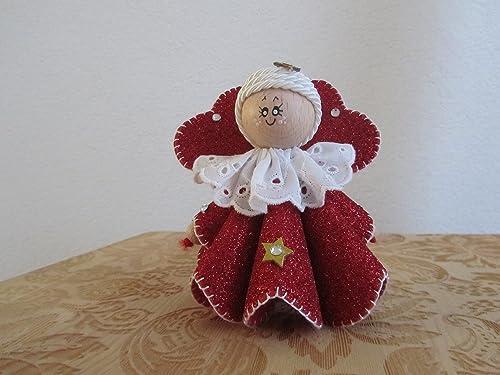 Regali Di Natale In Pannolenci.Angeli Angioletti Fatti A Mano In Feltro Ottimo Come