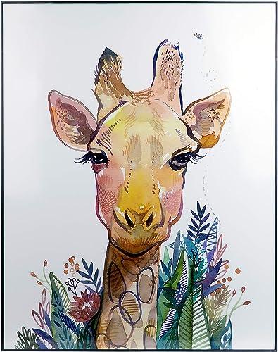 Sycamore Decor Geraldina Giraffe 30″x24″ Glossy Wall Decor
