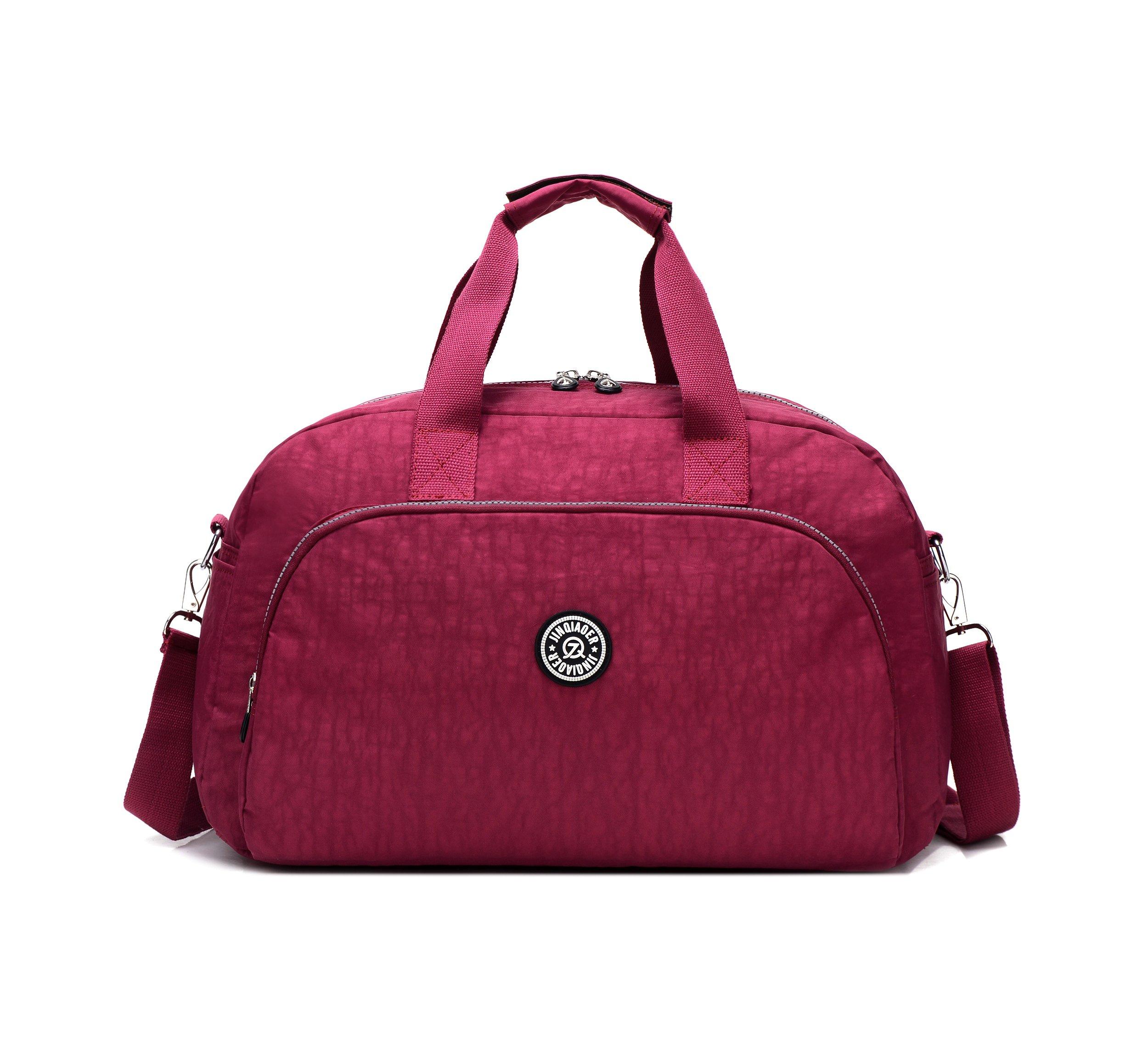 GuiShi(TM) Waterproof Travel Weekender Shoulder Bag Lightweight Gym Tote Organiser Weekender Bag (Red)