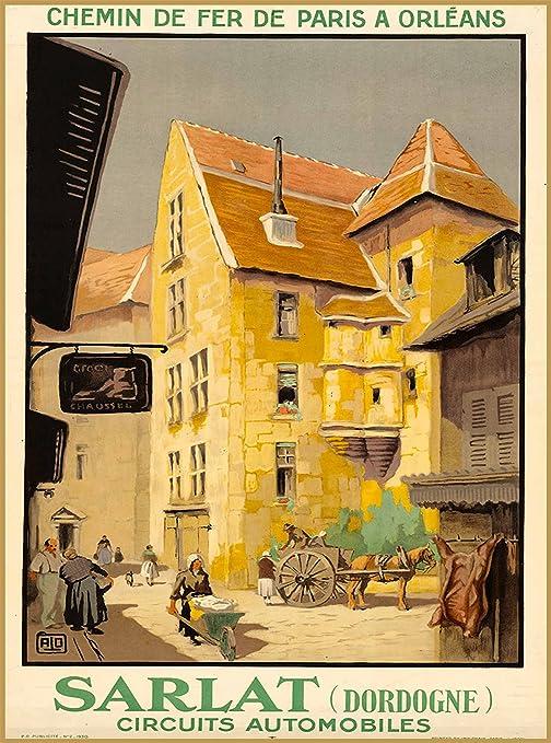 Sarlat-la-Canéda France French Europe Vintage Travel Advertisement Poster 3