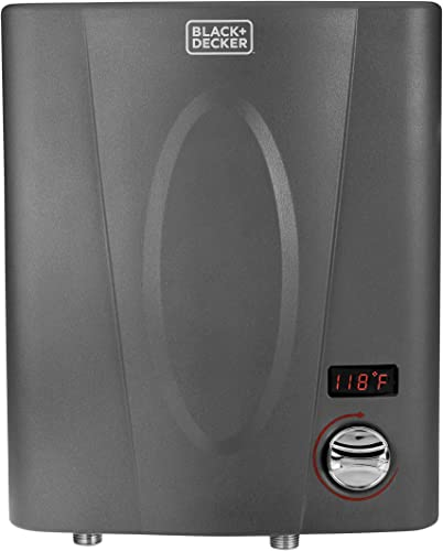 BLACK DECKER 11 kW Self-Modulating 2.35 GPM Electric Tankless Water Heater, Point of Use hot water heater electric