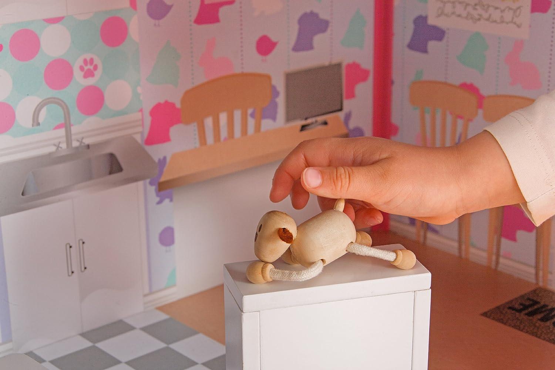 Plum Camden Court Wooden Dolls House with Wooden Accessories