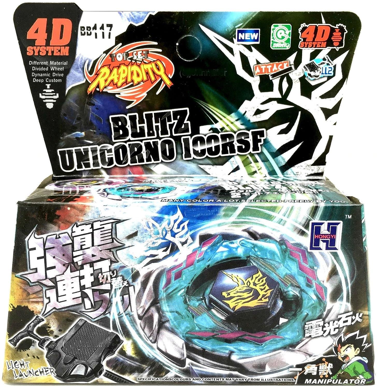 Amazon.com  unbrand Blitz Unicorno Striker Beyblade Starter Set NIP w   Launcher Ripcord - USA SELLER  Toys   Games 7bdb4281050f