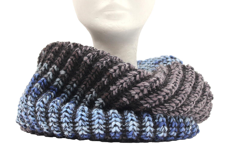 Scaldacollo in maglia, sciarpa ad anello unisex stampato col. Jeans