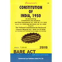The Constitution of India, 1950 Bare Act - 2019