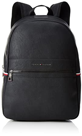 Tommy Hilfiger - Essential Backpack, Mochilas Hombre, Negro (Tommy Navy/Core Stp