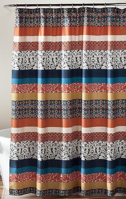Amazon Lush Decor Bohemian Striped Shower Curtain Fabric