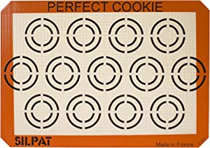 """Silpat Perfect Cookie Non-Stick Silicone Baking Mat, 11-5/8"""" x 16-1/2"""""""