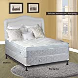 """Continental Sleep 10"""" Pillowtop Eurotop, Fully Assembled Othopedic Queen Mattress & Box Spring,Luxury Collection"""