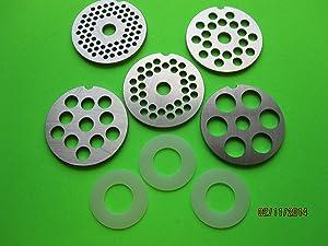 (5) Meat Grinder discs plate for Vintage Metal Kitchenaid Mixer meat grinder