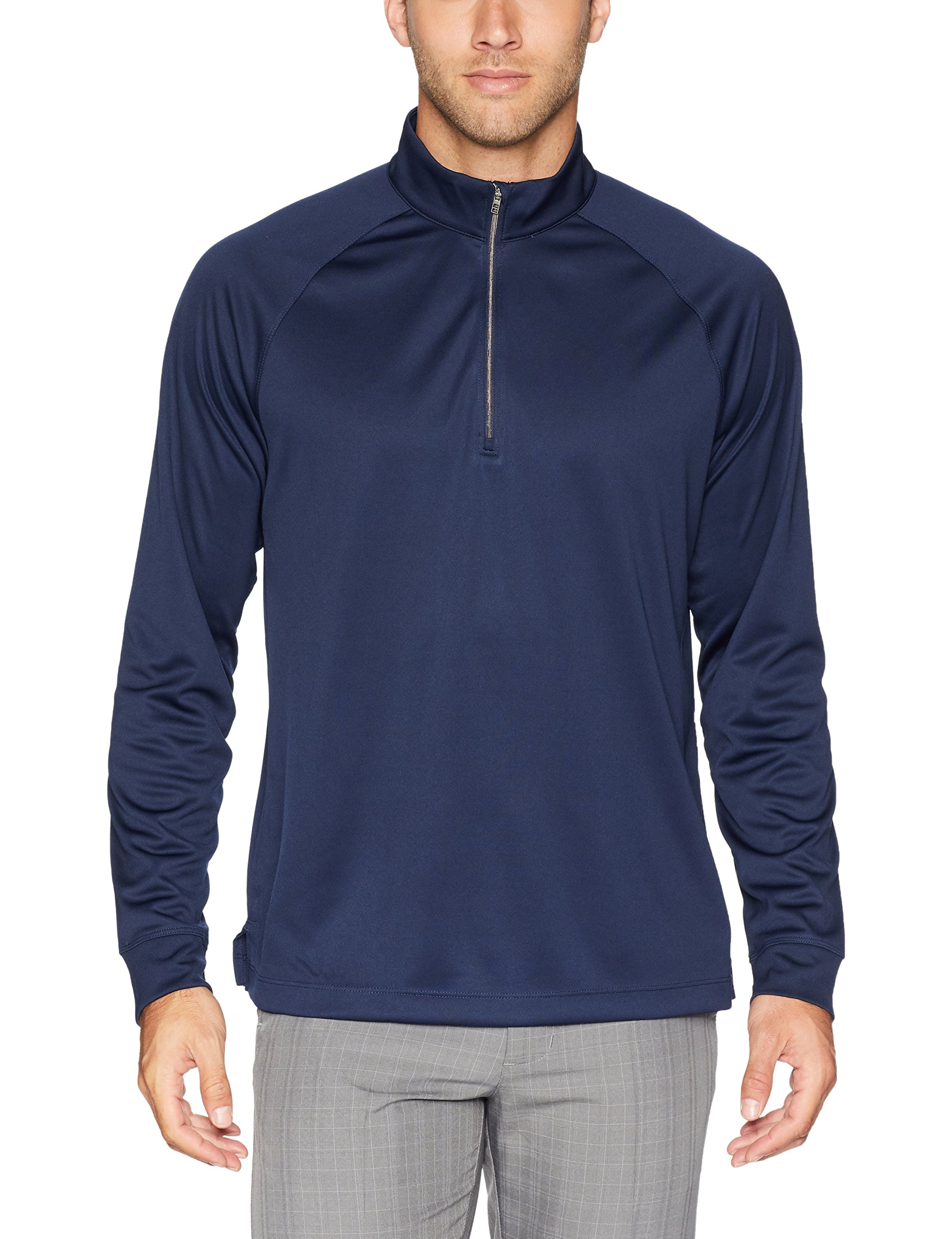 Greg Norman Men's Long Sleeve 1/4-Zip Mock, Navy, Small