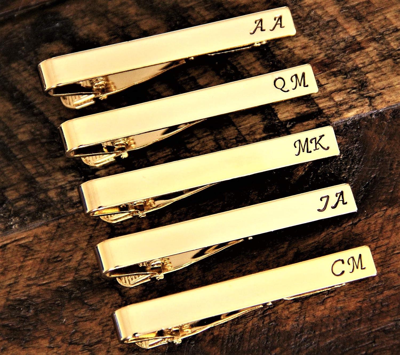Personalized Tie Clips - Wedding Tie Clips - Groomsmen Tie Clip - Best Man Tie Clips - Silver Tie Clips - Gold Tie Clips - Custom Tie Clip