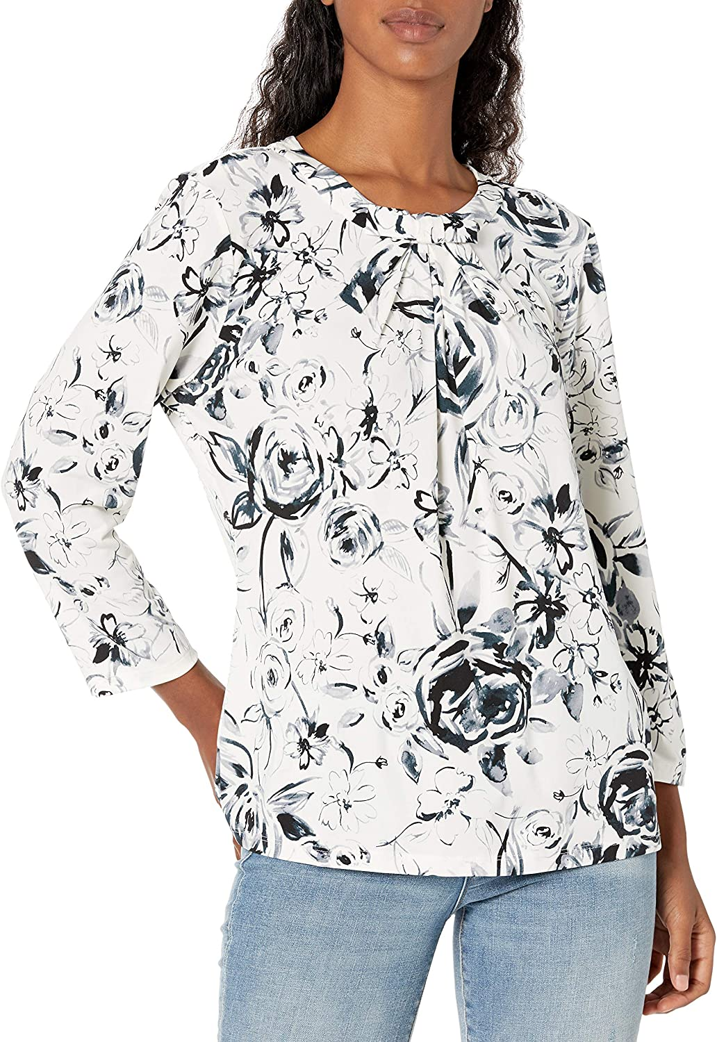 Karl Lagerfeld Paris Women's Sleeve free shipping Blouse Max 54% OFF Long