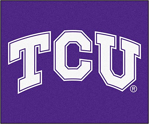FANMATS NCAA Texas Christian University Horned Frogs Nylon Face Tailgater Rug