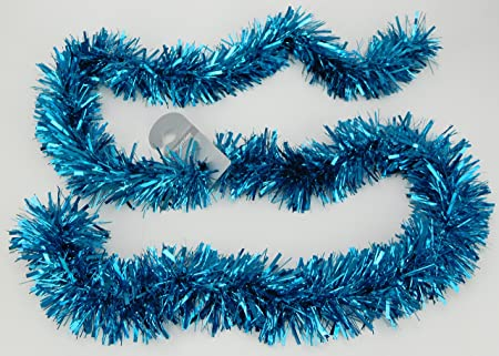 2 metre turquoise tinsel christmas tree decorations festive home decor