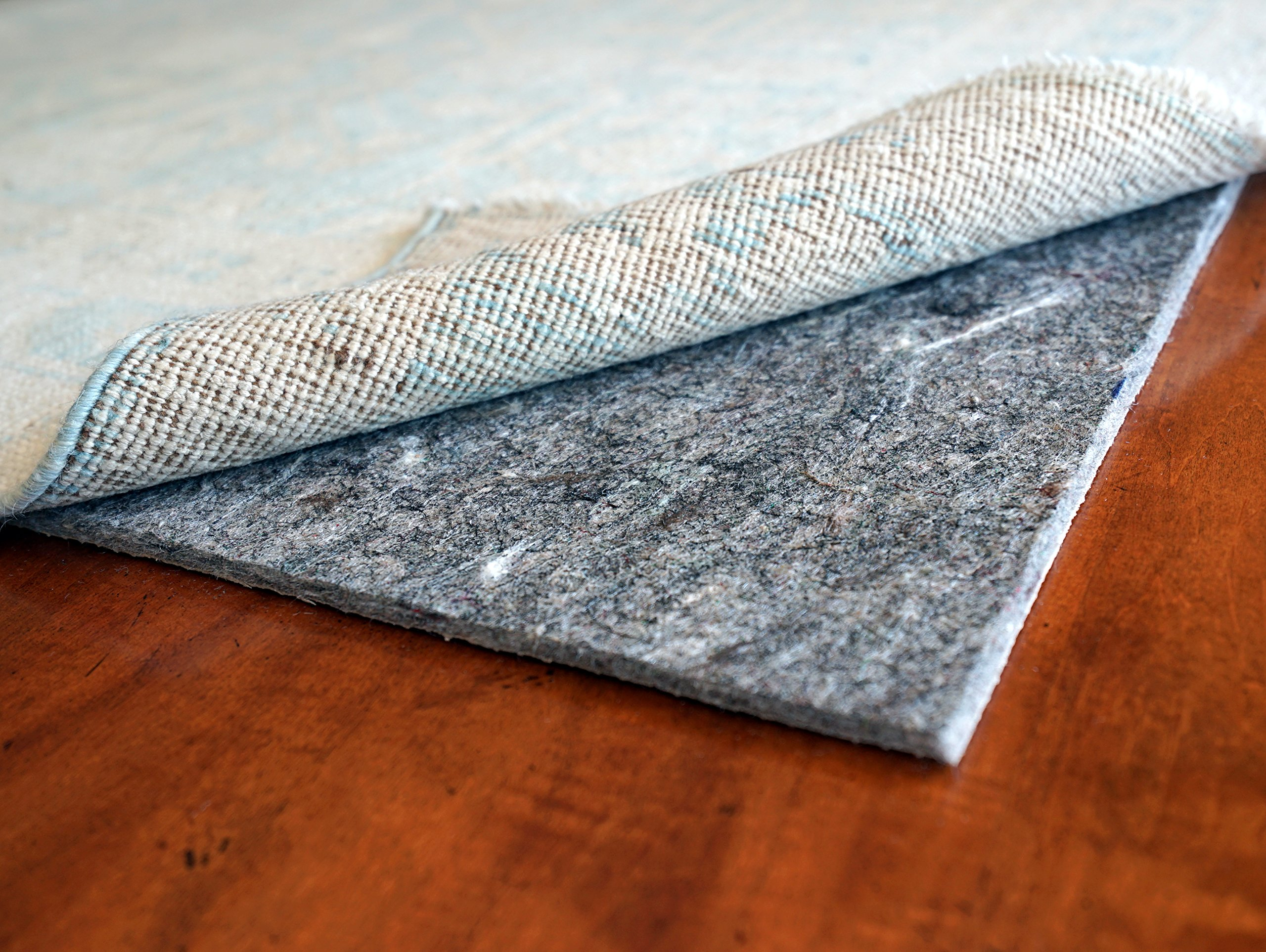 Contour Lock 1/8'' Rubber & Felt by Rug Pad USA, Quality Low Profile Rug Mat, Locking Non-Skid Rug Pad Grips and Protects- Made in USA- 20 Year Warranty (11x16) by Rug Pad USA