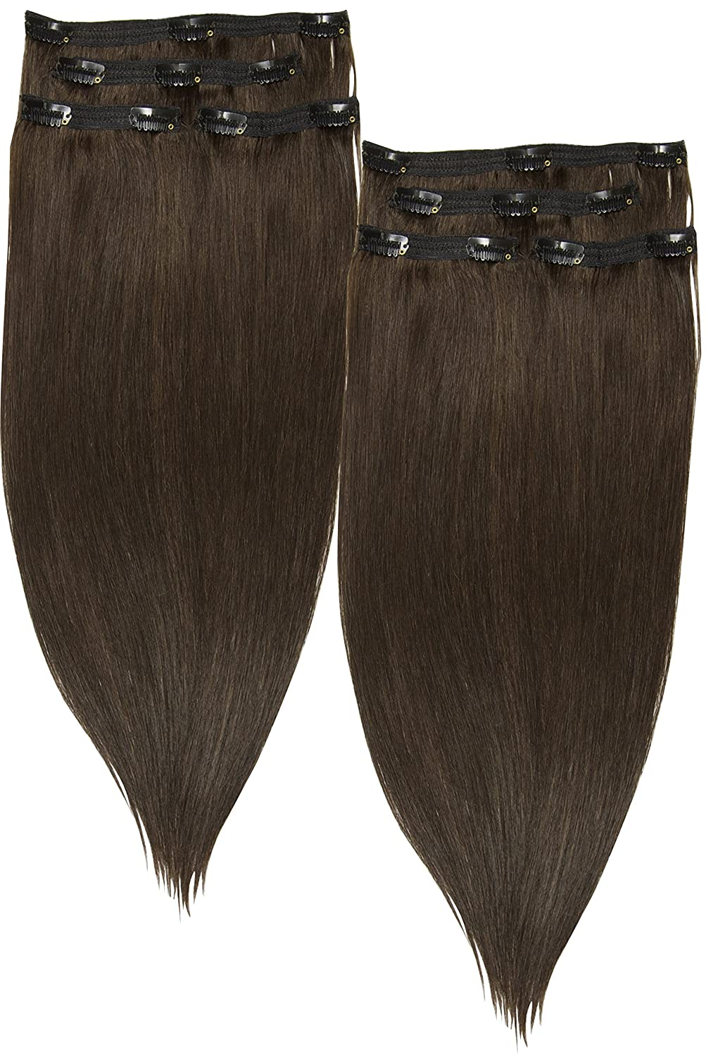 Amazon Fab 20 Long Straight Lace Weft Clip In Remy Human Hair
