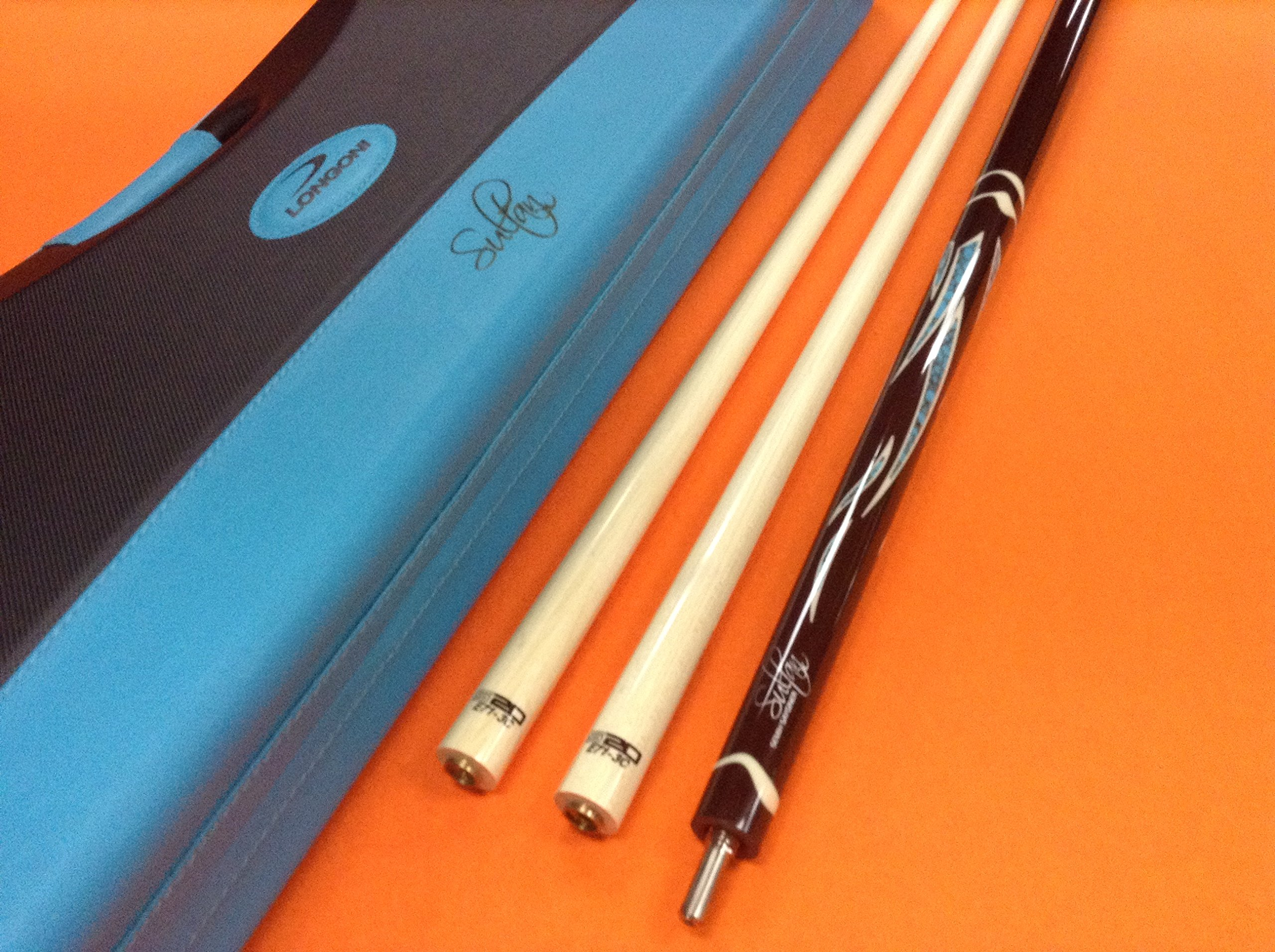 LONGONI CAROM CUE SULTAN WITH S20 SHAFTS & CASE