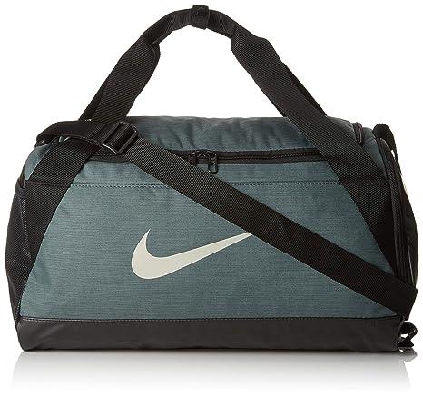 Nike NK BRSLA S Duff Bolsa de Gimnasio, Adultos Unisex, Mineral Black/Spruce fo, One Size