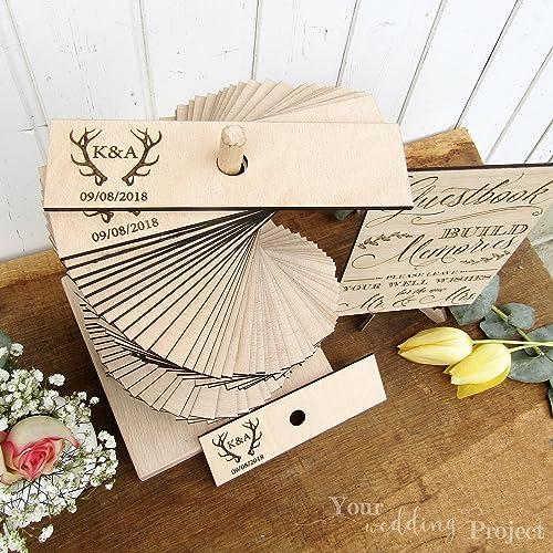 Amazon Com Wedding Guest Book Alternative Antler Wedding