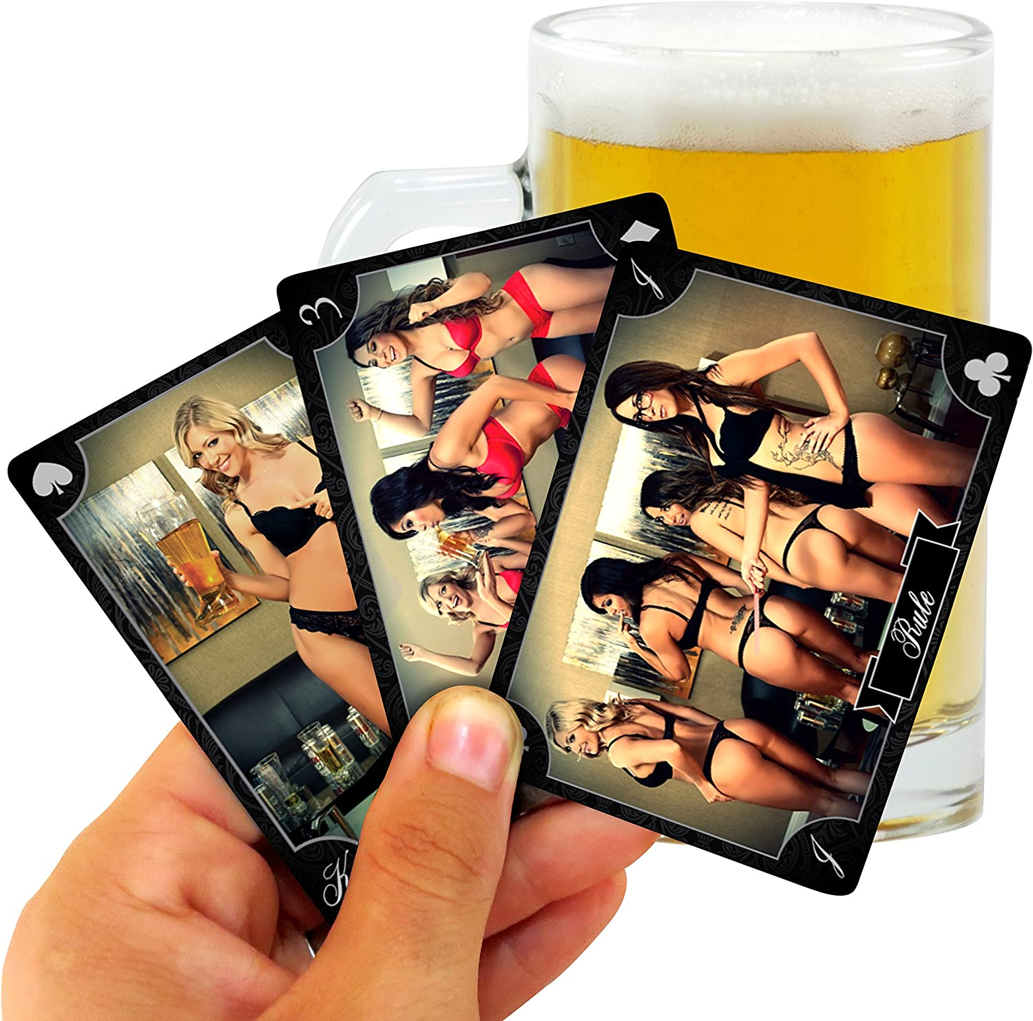 Kings Deck - The Kings Cup Drinking Game with Hot Chicks (Best Adult Party Game)