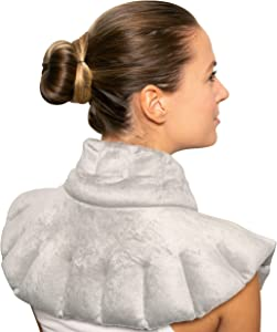 Bed Buddy Lavender Neck and Shoulder Wrap - Microwave Heating Pad for Neck and Shoulders - Moist Heat Cold Therapy for Shoulder Pain, Neck Pain and Pain Relief - Lavender and Chamomile Aromatherapy