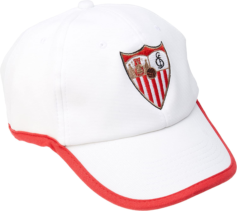 Sevilla CF Gorra Premium Gris Claro Sevilla FC Unisex Adulto Talla Unica