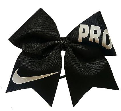 6a8b337f87556 Amazon.com: Cheer Bows Black Nike PRO Hair Bow