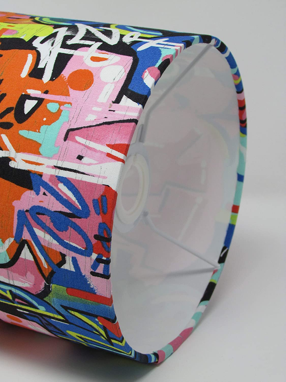 Graffiti Street Art Drum Lampshade Ceiling Light Shade Novelty