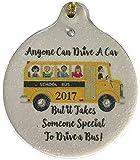 School Bus Driver 2017 Porcelain Ornament Gift Boxed World's Best