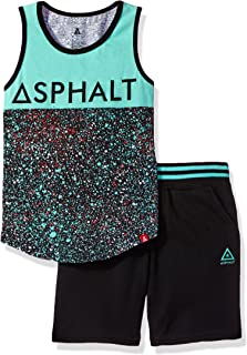 Asphalt Yacht Club Boys Splatter Tank Shirt and Short Set Clothing Set