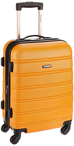 Rockland Luggage Melbourne 20 Inch Expandable Abs Carry On Luggage, Orange, One Size