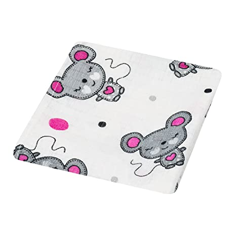 4 cuadrados de muselina para bebé, 100% algodón, 80 x 70 cm,