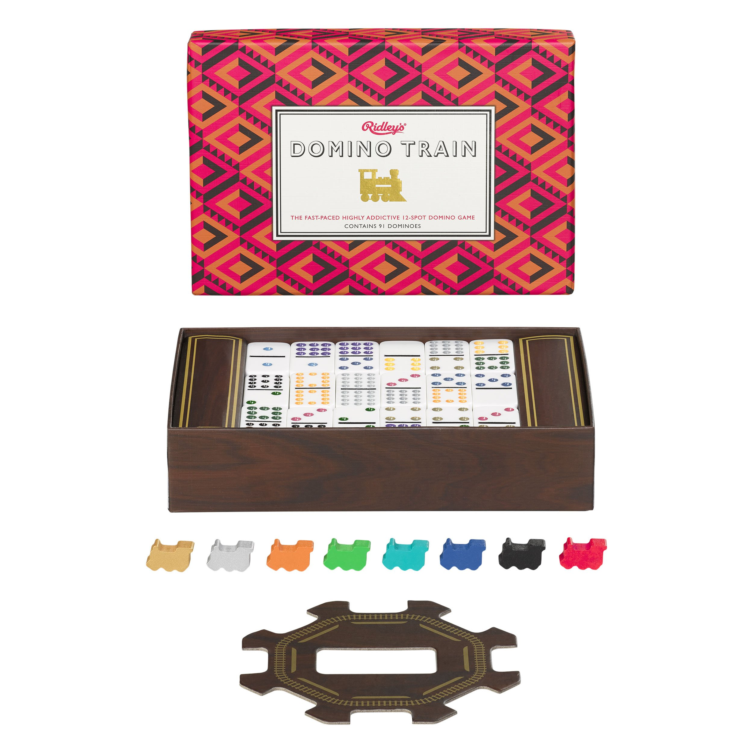 Ridley's Domino Train Board Game for Kids and Adults