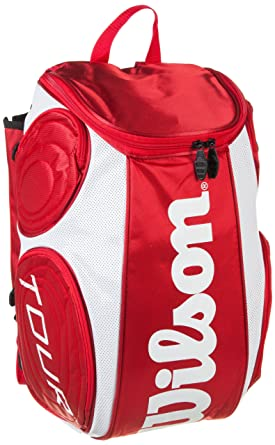 WILSON Tour Large Backpack - Mochila para tenis (50 x 33 x 26 cm) rojo rojo/blanco Talla:STK: Amazon.es: Ropa y accesorios