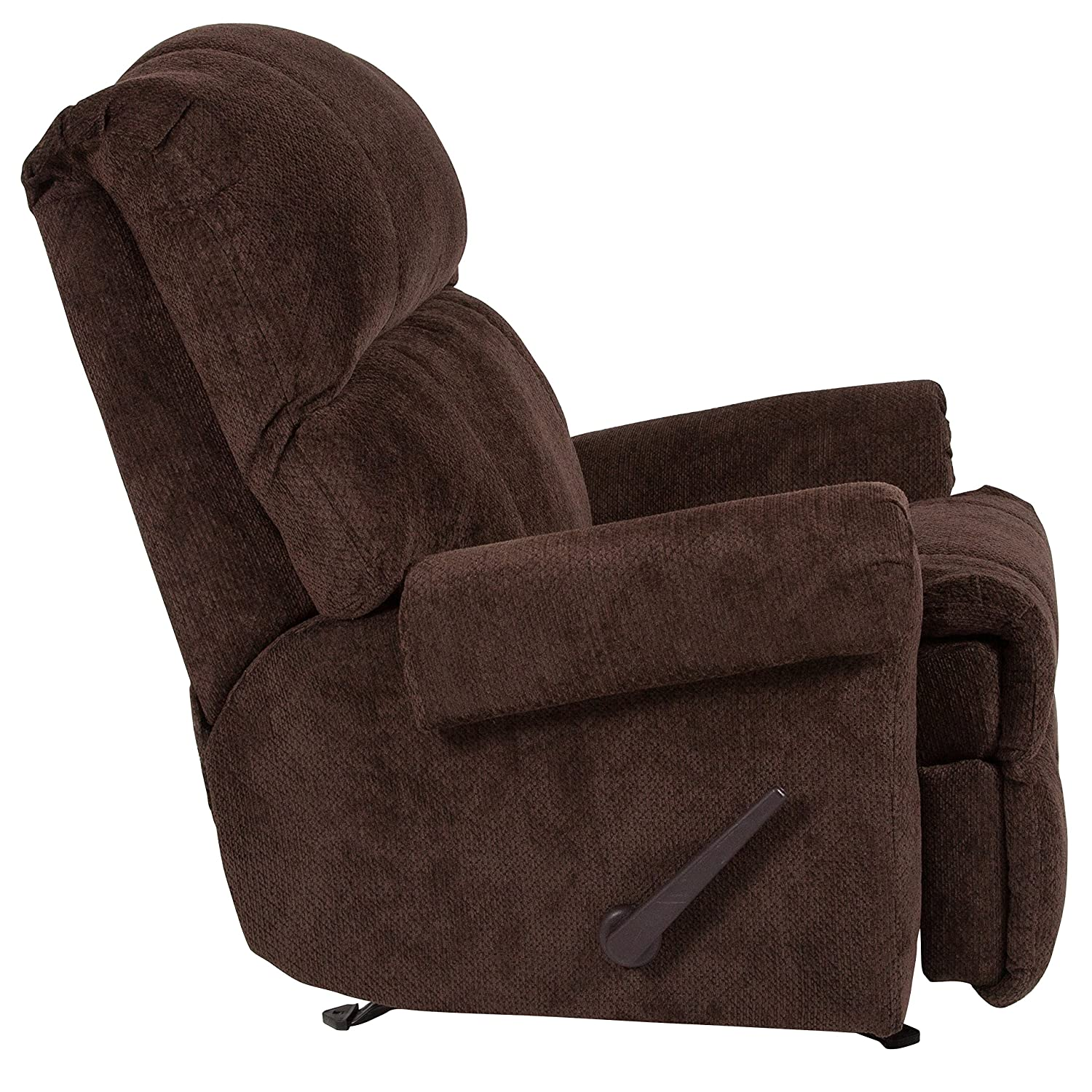 7ff7cb6c834f Amazon.com  Flash Furniture Contemporary Kelly Chocolate Super Soft  Microfiber Rocker Recliner  Kitchen   Dining