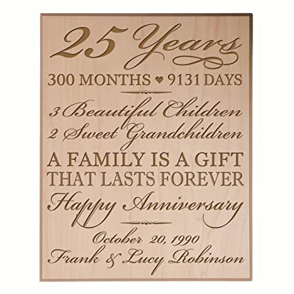 amazon com personalized 25th anniversary gifts for him her couple