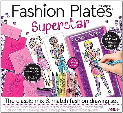 Amazon Com Kahootz Fashion Plates Superstar Deluxe Set Toys Games