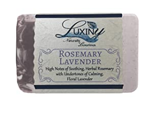 Natural Soap Bar, Luxiny Rosemary Lavender Handmade Body Soap and Bath Soap Bar is Palm Oil Free, Vegan Castile Soap with Essential Oil for All Skin Types Including Sensitive Skin (Single)