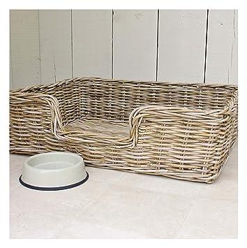 Amazon.com: Cesta de mimbre para cama para perro Talla XL ...