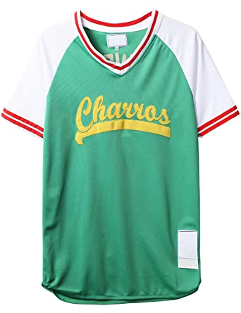 Amazon.com  Mens Charros 55 Kenny Powers Eastbound and Down Mesh Baseball  Costume Funny Jersey 77  Clothing 66804d91bf18