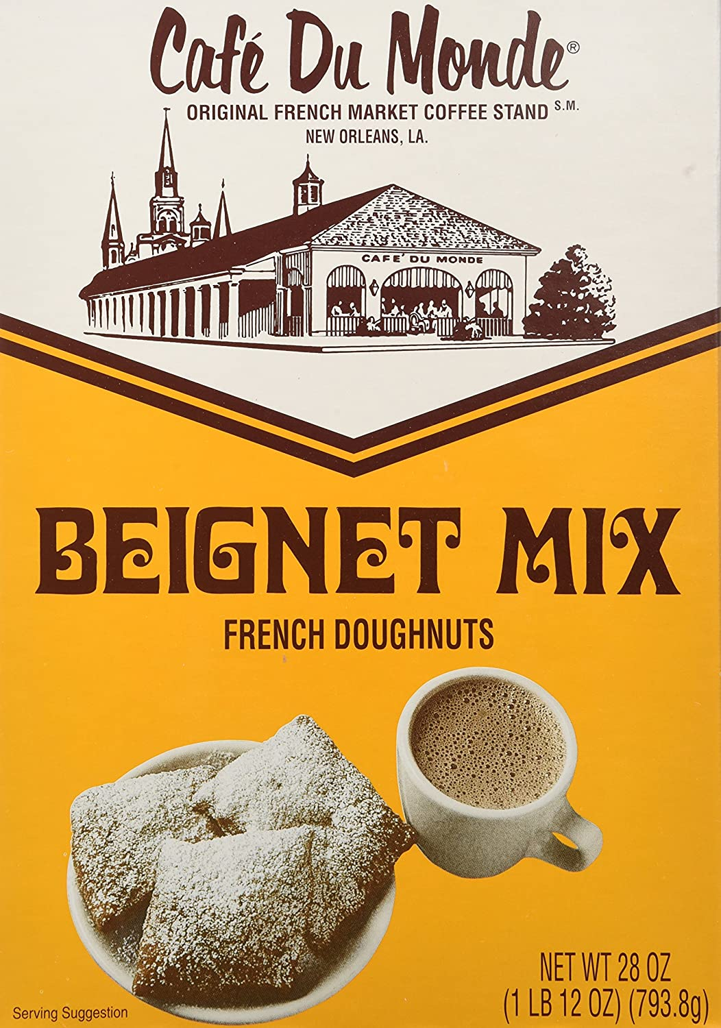 Cafe du Monde Mix Beignet Mix, 28 oz, Pack of 2