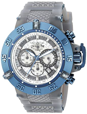 Invicta Men's 'Subaqua' Quartz Stainless Steel and Silicone Casual Watch,  Color:Grey