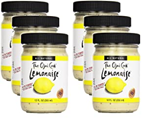 Lemonaise - A Zesty Citrus Mayo - All Natural Lemon Mayonnaise For Sandwich Spreads, Dips, and Dressings - 12 Ounce Jar (Pack of 6)