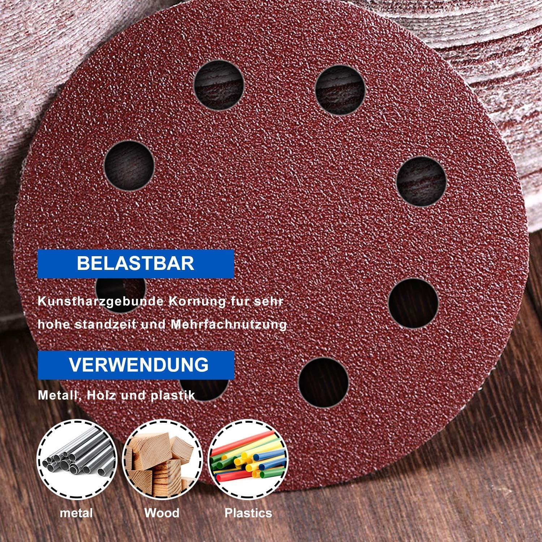 60 X Schleifscheiben 125mm Schleifpapier Für Exenterschleifer Handschleifer DIY