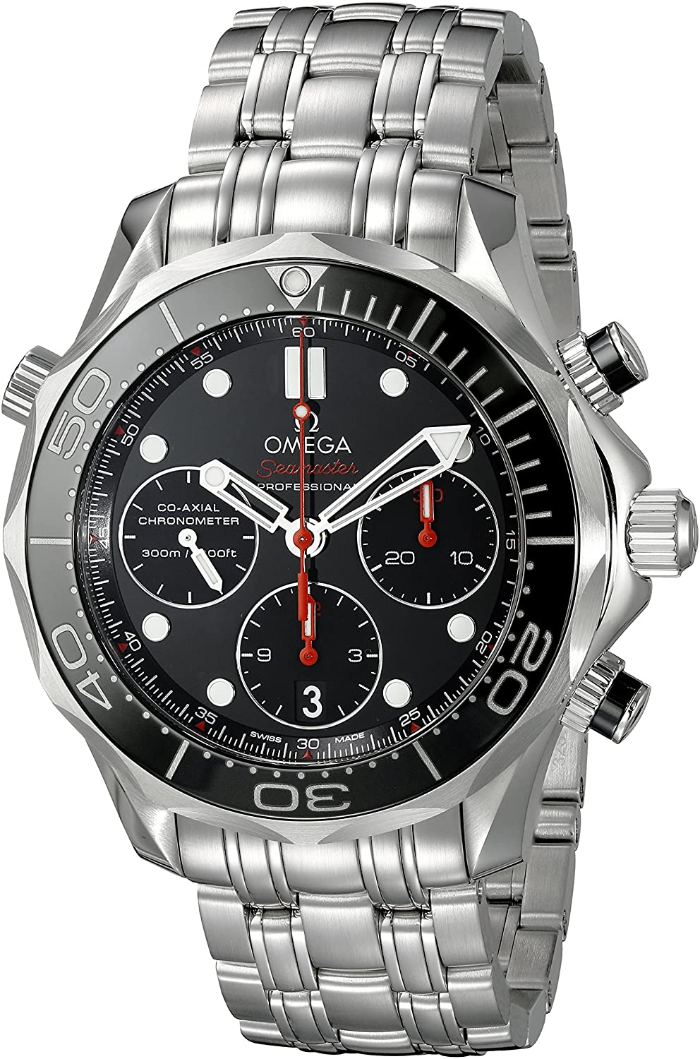 Omega Seamaster Diver 300 M Co-Axial Chronograph 41.5 mm Mens Watch 212.30.42.50.01.001