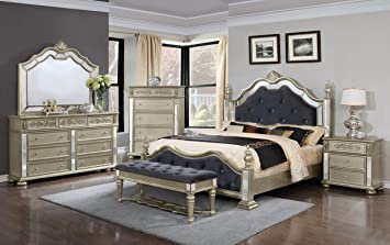 Amazon Com Gtu Furniture Kenton Panel 6pc Wooden Queen Bedroom